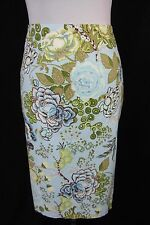 Talbots Skirt size 8 Blue Floral Victorian Pencil Slim
