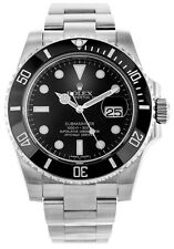 Rolex Submariner 40 Black Dial Dot Markers Oyster Links Men Watch 116610LN **New