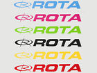 Rota Wheels Stickers OFFICIAL Decals Various Sizes and Colours Available