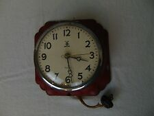 Vintage E Ingraham Miller Lotus Lenox Electric Wall Clock, Art Deco Decor MK200