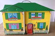 VINTAGE MATTEL 1970 DOLLHOUSE # 4980 YELLOW GREEN VINYL DOLL HOUSE TOY
