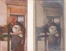 # BANCHE: MONTE DI PIETA' 2 CART. CON EDIZ. DIVERSE  quadro di L. SERRA