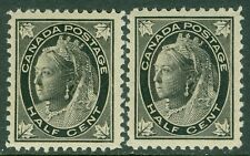 CANADA : 1898. Unitrade #66. 2 Very Fine, Mint Never Hinged stamps. Catalog $120