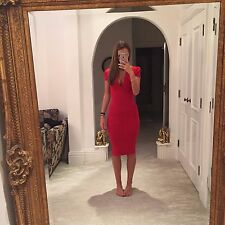 Ladies ASOS Red Midi Dress UK Size 6