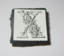 "X Rubber Stamp Foam Mounted Letter Initial Flowers NOS 1"" High New"