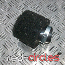 ANGLED BLACK 45mm PIT DIRT BIKE DOUBLE FOAM AIR FILTER 125cc 140cc PITBIKE