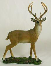 WHITE TAIL DEER BUCK STATUE Desktop Figurine NEW Animal Wildlife Polyresin LE