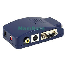 USB PC MAC VGA to AV TV LCD Composite RCA S-Video Adapter Converter Switch Box