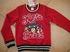 (283) Nolita Pocket Girls Sweatshirt Pullover Pilz Stickerei Logo Besatz gr.128