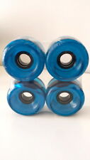 LONGBOARD-CRUISER-COMPLETE SET-4 WHEELS-CLEAR BLUE/AZUL-70mm 80a-SKATEBOARD