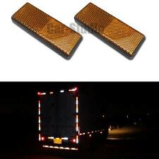 2x Yellow Plastic Reflective Warning Plate/Tape Stickers For Car Truck Safety
