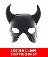 Faux Leather cat woman dominatrix mask/hood/head gear restraint fetish Roleplay
