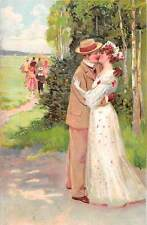 Fancy Couple, Elegant clothing, Wedding, Kiss 1907
