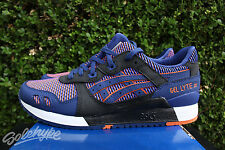 ASICS GEL LYTE III 3 SZ 11 BLUE PRINT CHAMELEON PACK ORANGE WHITE HN6J2 5109