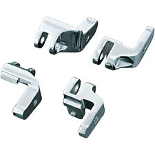 Kuryakyn 4588 Chrome Driver Floorboard Relocation Brackets 97-15 Harley Touring