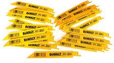 """25 DEWALT 6"""" RECIPROCATING SAW BLADES 14TPI BI METAL DW4808 FITS SAWZALL"""
