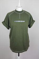 Vintage Retro Renovación Urbana Para Hombre Caqui Atlético Nike Deportes T-Shirt Top en muy buen estado UK S