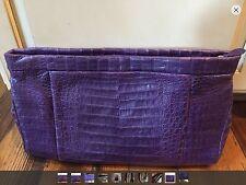 Huge SALE NWT $2750 Nancy Gonzalez Large Crocodile Gonzales Clutch Purse Bag