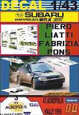 DECAL 1/43 SUBARU IMPREZA 555 P.LIATTI ACROPOLIS R. 1996 4th (01)