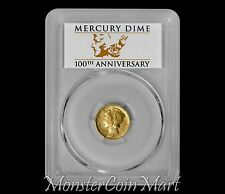 2016-W Centennial Gold Mercury Dime PCGS SP70 FS - IN STOCK & READY TO SHIP OUT
