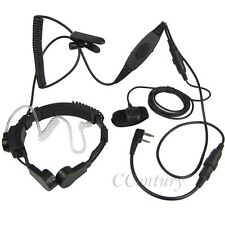 FBI VOX PTT Military Tactical Throat Mic Headset For BAOFENG UV5R GT-3 BF-888S