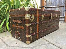 LOUIS VUITTON Antique LARGE Monogram Wardrobe Steamer Trunk chest purse bag LV