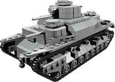 CUSTOM building INSTRUCTION Japanes Typ95 heavy tank to build out of LEGO® parts