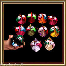 Lots 10PCS Chinese Handmade Silk Jewelry Ring Box Coin Bag Purse With Children