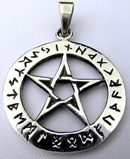 Sterling Silver (925)  Pentagram  Pendant   (5.2 Grams)   !!      Brand  New !