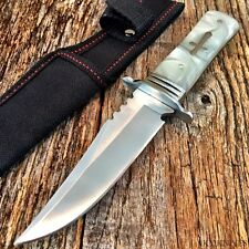 Celtic CROSS Hunting FIXED BLADE Survival Knife New w/Sheath Military Pearl 9510