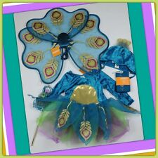 NWT 12-18 Gymboree BABY PEACOCK 5-Pc COSTUME SET: WINGS Tights Suit Hat Specter