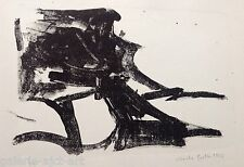 Christa PYROTH Lithographie de 1963 Signée crayon Abstraction 27x38cm Abstract