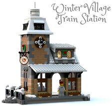 Constructibles Winter Village Train Station - LEGO® Parts & Instructions Kit