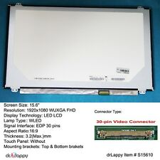 "15.6"" 1920x1080 Full HD EDP LED LCD Screen 30 Pin for Fujitsu Lifebook E754 E554"