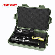 Zoomable XML T6 LED Tactical Flashlight+18650 Battery+Charger+Case
