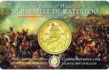 €2,5 EURO GENUINE COINCARD WATERLOO 1815 2015 BELGIUM BELGIO BELGIQUE BELGIE