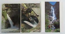 Schweiz Postkarten Lot 3x Wasserfall Waterfall Lauterbrunnen, Adelboden, Alpen