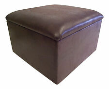 Large Brown Snakeskin Faux Leather Pouffe/Storage Box/Footstool
