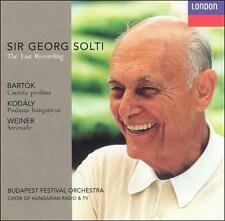 Sir George Solti: The Last Recording; Bart¢k, Kodly, Weiner (CD, Apr-1998,...