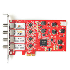TBS6904 DVB-S2 Quad Satellite sintonizzatore PCIe Card Freesat HD FTA WATCH e registrare
