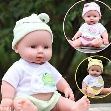 Girls Cute Reborn Baby Doll Soft Silicone Vinyl Lifelike Newborn Baby Toy Gift