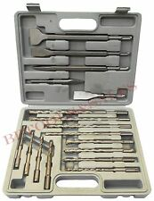 17 Pc Drill & Chisel Set SDS Drill Bits & Chisel Rotary Hammer Bits Concrete Use