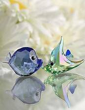 SWAROVSKI CRYSTAL LOVLOT SEALIFE SHELLY AND SAM FISH 1119916 MINT and BOXED
