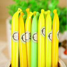 2Pcs/Lot Banana Gel Pen Erasable Blue Ink Pens Stationery Supplier