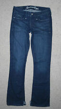 American Eagle Designer Dark Wash low rise True Boot Jeans Size 2 Regular Womens