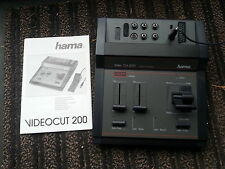 HAMA VIDEO CUT 200 ... TABLE DE MONTAGE VIDEO . CAMESCOPE . S VHS VIDEO 8 HI8