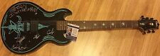 Anthrax Band Signed Auto Guitar Ian Belladonna Bello Benante Donais JSA PROOF