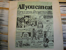 Rolling Stones 'All You Can Eat' Vinyl LP 1973 Double Live Boot Play Tested