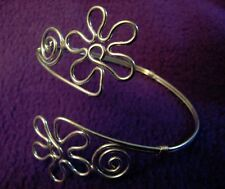 Upper Arm ARMLET Flower Hippie Costume Adjustable Belly Dancer BRACELET Jewelry