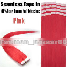 Seamless Tape In 100% Remy Human Hair Extensions Skin Weft Hair 16-24Inch 20Pcs